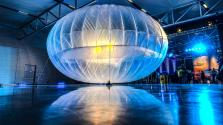 Testing one of Project Loon's balloons.