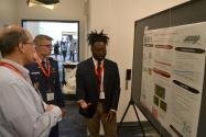 PhysCon 2016 poster presentation by Nyles Fleming of Morehouse College. Photo by Matt Payne