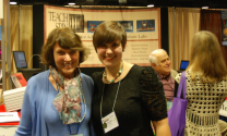 The author with Barbara Wolff‐Reichert. Photo courtesy of Jonathan Reichert