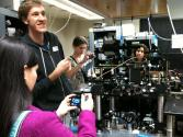 Students in the quantum optics lab at Caltech. Photo by Azucena Yzquierdo