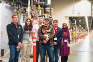 Students toured Students tour SLAC National Accelerator Laboratory at PhysCon 2016. Photo by Ken Cole.. Photo by Ken Cole