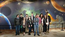 Attendees at the meeting visited the Longway Planetarium in Flint, MI to watch a show about stars.