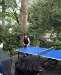 Dinner and ping pong with Cathy O'Riordan, AIP Interim Co-CEO and COO