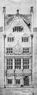 Architect's drawing of the American Institute of Physics (AIP) building located at 57 E. 55th Street, New York City. Image courtesy of the AIP Emilio Segrè Visual Archives.