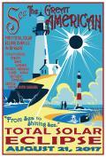 """Sea to Shining Sea"" 2017 Eclipse. Poster image ©2014 Tyler Nordgren"