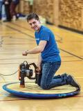 Competitors strut their stuff on top of homemade hovercrafts. Photos courtesy of Stevie Momaly.