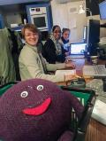 Pictured left to right - Lil' BD (the BDNYC mascot), Haley Fica (Undergrad at Barnard College), Munazza Alam(Undergrad at CUNY Hunter College, currently attending graduate school at Harvard University), and Sara Camnasio (Undergrad at CUNY Hunter College, currently attending graduate school at NYU) at Las Campanas Observatory in Chile.