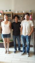 Ana, Francisco, and Francisco... Physicists from Mexico!!!