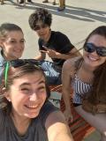 Eleanor, Francisco, Sam, and I at Tyson's Corner mall.