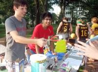 College of Wooster Physics Club members at Scot Spirit Day 2013.