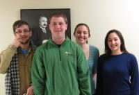 From left to right: Nathan Holman, Jarrod Bang, Kristina Ward, & Lana Zholudeva