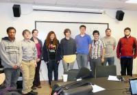 From left to right: Cedrick McDonald, Gregory Renner, Dr. Ruth Malenda, Hannah Pell, Matt Campbell, Nick Durofchalk, Anthony Hoover, Andrew Burkholder, Douglas Olinger