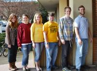 From left to right: Amanda Palchak, Erica Bloor, Alyece Willoughby, Steven Kirkup, Austin Andries, Tyler Reese